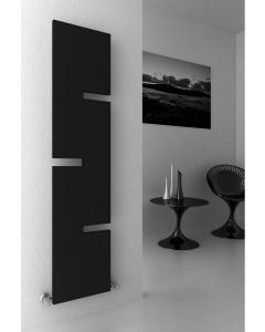 Reina Fiore Steel Anthracite Vertical Designer Radiator 1800mm x 400mm