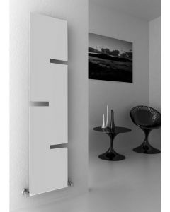 Reina Fiore Steel White Vertical Designer Radiator 1800mm x 400mm