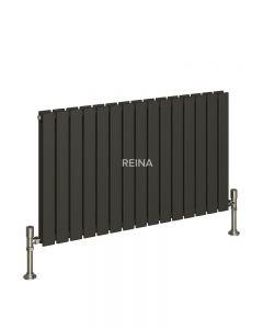 Reina Flat Steel Anthracite Horizontal Designer Radiator