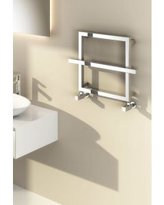 Reina Lago 1 Steel Chrome Designer Heated Towel Rail 450mm x 600mm