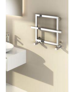 Reina Lago 2 Steel Chrome Designer Heated Towel Rail 450mm x 600mm