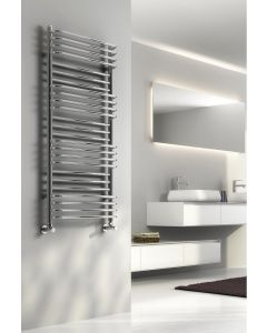 Reina Marco Steel Chrome Designer Heated Towel Rail