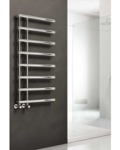 Reina Matera Steel Chrome Designer Heated Towel Rail