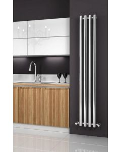 Reina Oria Steel Chrome Vertical Designer Radiator 1800mm x 270mm