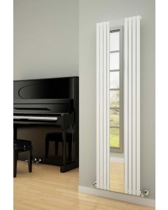 Reina Reflect Steel White Vertical Designer Radiator 1800mm x 445mm