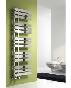 Reina Sesia Steel Chrome Designer Heated Towel Rail