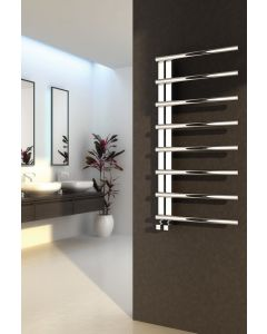 Reina Celico Polished Stainless Steel Designer Heated Towel Rail
