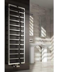 Reina Egna Polished Stainless Steel Designer Heated Towel Rail