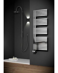 Reina Entice Brushed Stainless Steel Designer Heated Towel Rail