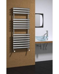 Reina Helin Polished Stainless Steel Designer Heated Towel Rail