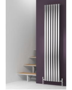 Reina Nerox Stainless Steel Brushed Vertical Designer Radiator