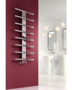 Reina Pizzo Polished Stainless Steel Designer Heated Towel Rail 1000mm x 600mm