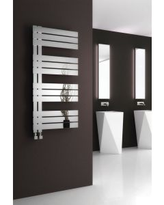 Reina Ricadi Polished Stainless Steel Designer Heated Towel Rail