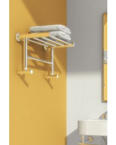 Reina Troisi Polished Stainless Steel Designer Heated Towel Rail 294mm x 532mm