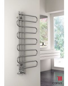 Carisa Rope Chrome Designer Heated Towel Rail 1000mm x 500mm