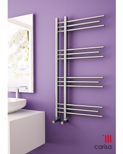 Carisa Rubin Chrome Designer Heated Towel Rail 1000mm x 500mm