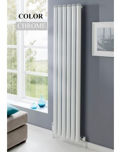 TRC Seta Groove Steel Chrome Vertical Designer Radiator