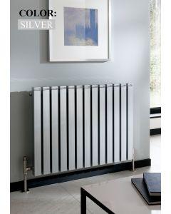 TRC Seta Line Steel Silver Horizontal Designer Radiator