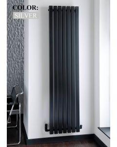 TRC Seta Line Steel Silver Vertical Designer Radiator