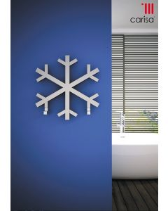 Carisa Snowflake Brushed Stainless Steel Designer Heated Towel Rail 600mm x 600mm