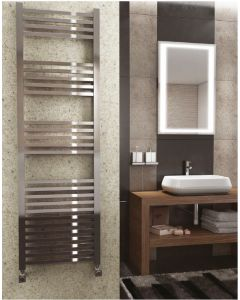 Kartell K Squared Steel Chrome Designer Heated Towel Rail