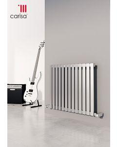 Carisa Sarp Brushed Stainless Steel Horizontal Designer Radiator
