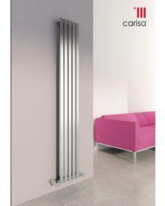 Carisa Sarp Brushed Stainless Steel Vertical Designer Radiator