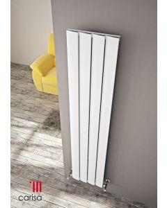 Carisa Step Aluminium White Vertical Designer Radiator