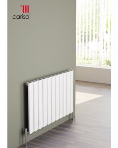 Carisa Step Aluminium White Horizontal Designer Radiator