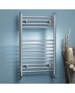 Kartell K-Rail 22mm Steel Straight Chrome Heated Towel Rail