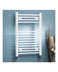 Kartell K-Rail 22mm Steel Curved White Heated Towel Rail