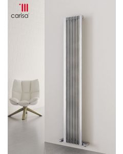 Carisa Stripe Brushed Stainless Steel Vertical Designer Radiator