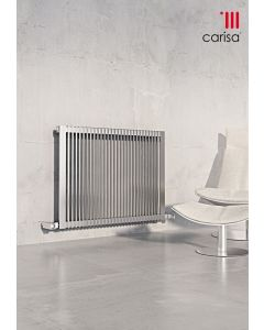 Carisa Stripe Brushed Stainless Steel Horizontal Designer Radiator