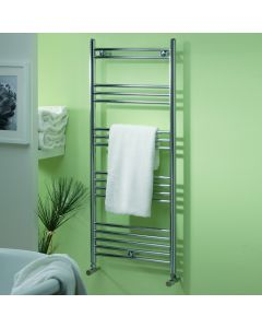 Kartell K-Rail 19mm Steel Straight Chrome Heated Towel Rail