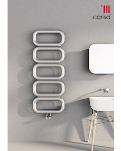 Carisa Talent Stainless Steel Designer Heated Towel Rail