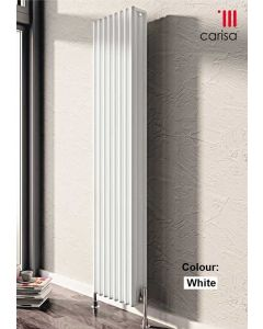 Carisa Tubo Aluminium White Vertical Designer Radiator