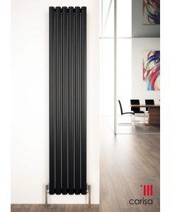 Carisa Tallis Aluminium Black Vertical Designer Radiator