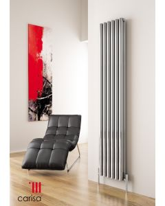 Carisa Tallis Polished Aluminium Custom Painted Vertical Designer Radiator