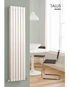 Carisa Tallis Aluminium White Vertical Designer Radiator