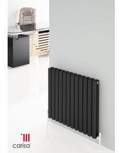 Carisa Tallis Polished Aluminium Custom Painted Horizontal Designer Radiator