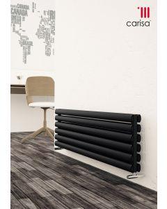 Carisa Tallis XL Aluminium Black Horizontal Designer Radiator