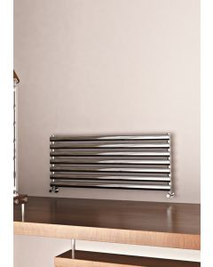 Carisa Tallis XL Polished Aluminium Custom Painted Horizontal Designer Radiator