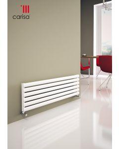 Carisa Tallis XL Aluminium White Horizontal Designer Radiator