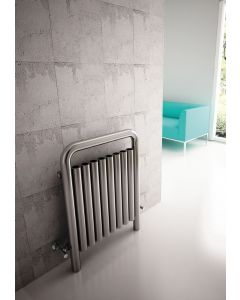 Carisa Una Brushed Stainless Steel Vertical Designer Radiator