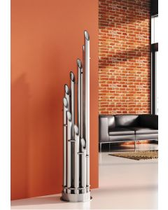 Carisa Unique Brushed Stainless Steel Vertical Designer Radiator 1900mm x 360mm