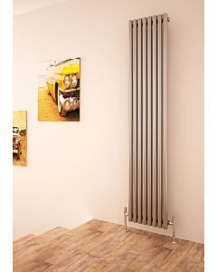 Carisa Versailles Brushed Stainless Steel Vertical Designer Radiator