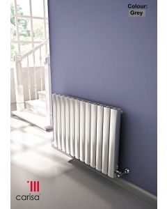Carisa Vesta Aluminium Grey Custom Painted Horizontal Designer Radiator