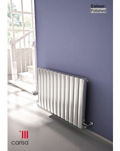 Carisa Vesta Polished Aluminium Painted Horizontal Designer Radiator