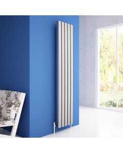 Carisa Vesta Polished Aluminium Painted Vertical Designer Radiator