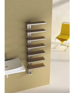 Carisa Woodstock Brushed Stainless Steel Designer Heated Towel Rail 1200mm x 400mm